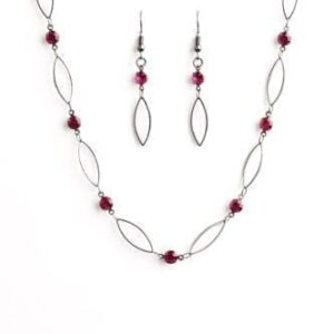Time Is Of The Essence Pink Necklace