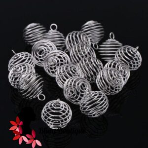 Silver Plated Bead Cages