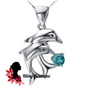 Forever Love Double Dolphin Necklace