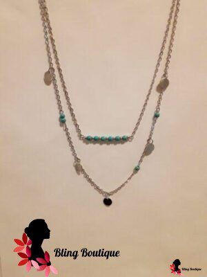 Bohemian Beaded Double Layer Necklace