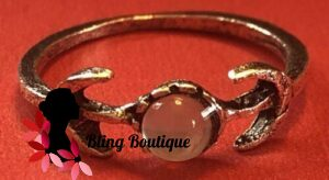 Bohemian Knuckle Ring w/Moons & Star
