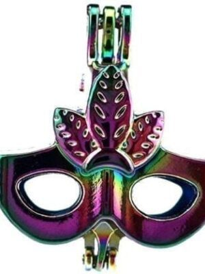 Rainbow Color Dress Party Mask Cage