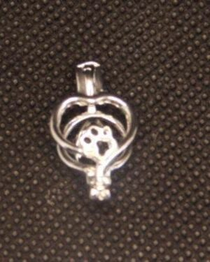 Heart w/Paw Print Cage