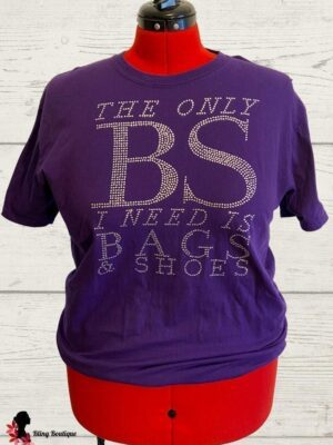 The Only BS I Need Purple Unisex Tee - XL