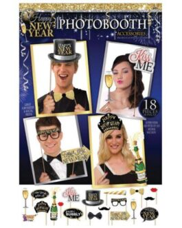 Happy New Year Photo Booth Prop Kit – Set of 18 pc