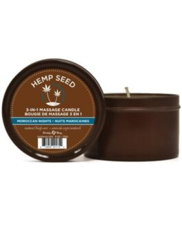 Earthly Body Suntouched Hemp Candle – 6.8 oz Round Tin Moroccan Nights