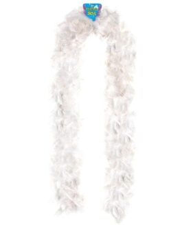 Lightweight Feather Boa – White