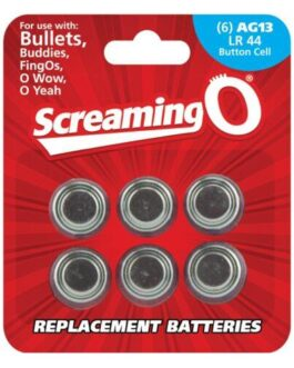 Screaming O AG13 Batteries – Sheet of 6 (Bullet, OWow, FingO, Bullet Buddies, O Gee)