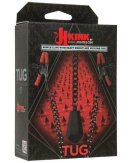 Kink Tug Nipple Clips w/Heavy Weight & Silicone Tips