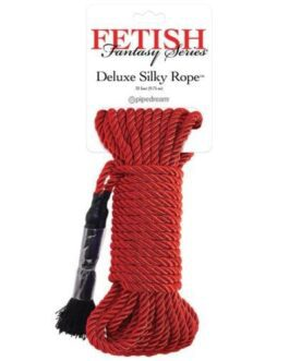 Fetish Fantasy Series Deluxe Silk Rope – Red
