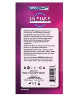 Swiss Navy Infuse Arousal Gels for Couples