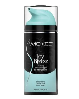 Wicked Sensual Care Toy Breeze Water Based Cooling Lubricant – 3.3 oz
