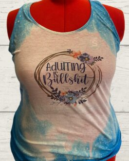 Adulting Is BS – Heathered Bright Turquoise